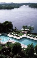 Intercontinental Hotel Pool on River Orinoco &amp; El Parque Cachamay, Puerto Ordaz